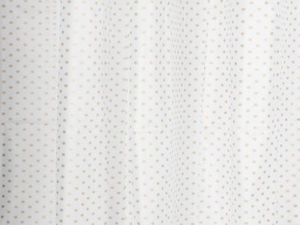 Differnz Peva Dots douchegordijn 180x200 cm goud/wit