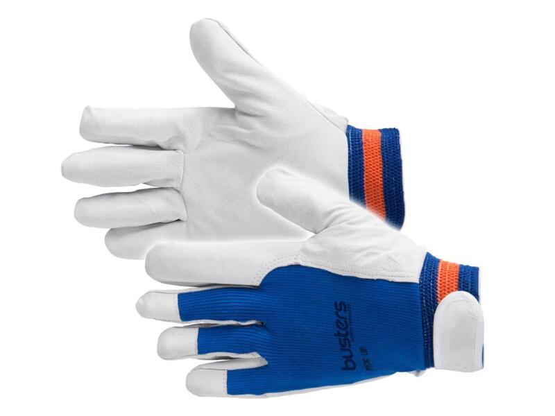 Busters Pick Up gants de travail M cuir bleu