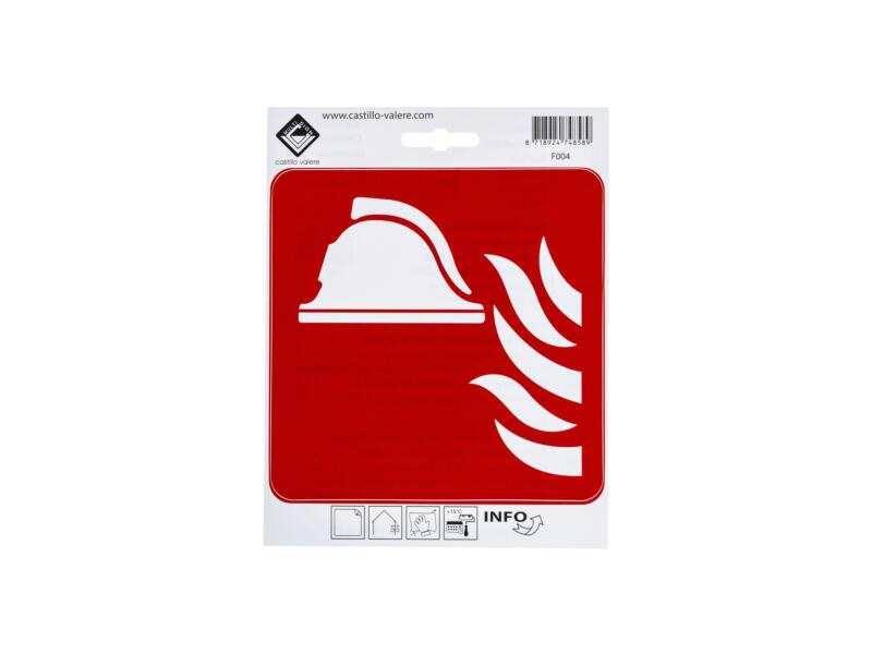 Pictogramme autocollant moyens anti-incendie 15x15 cm