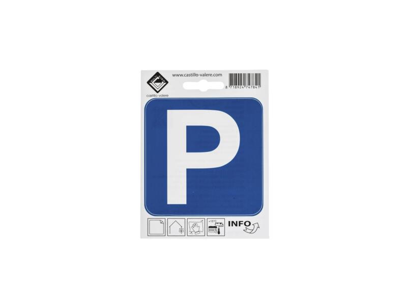 Pictogramme autocollant parking 10x10 cm