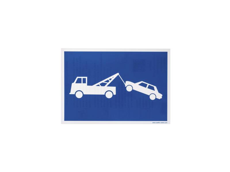 Pictogramme autocollant stationnement gênant 23x33 cm