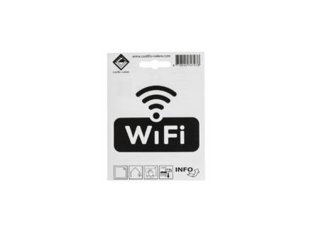 Pictogramme autocollant wifi 10x10 cm
