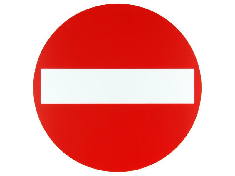 Pictogramme entrée interdite 18cm