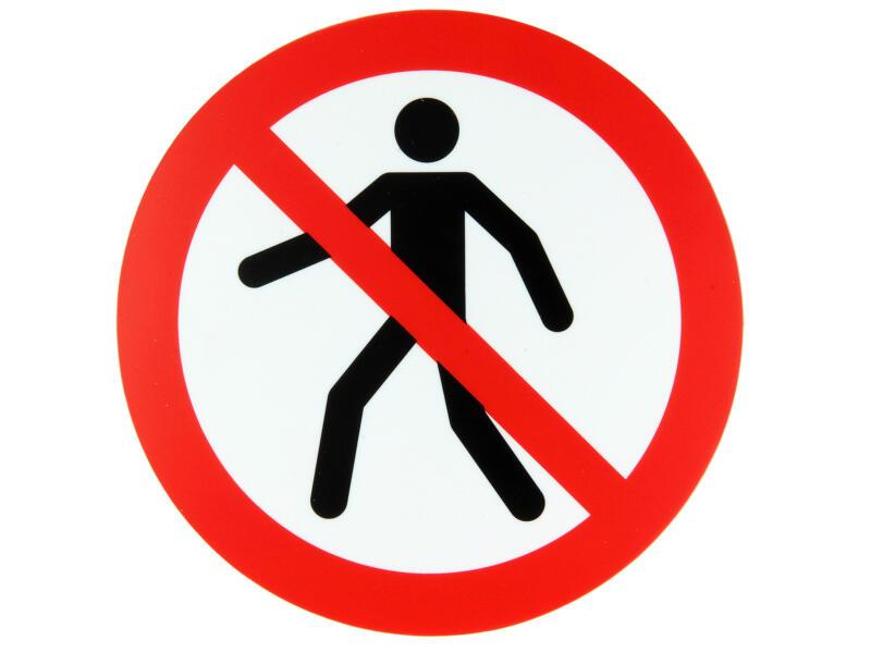 Pictogramme interdit aux piétons 18cm