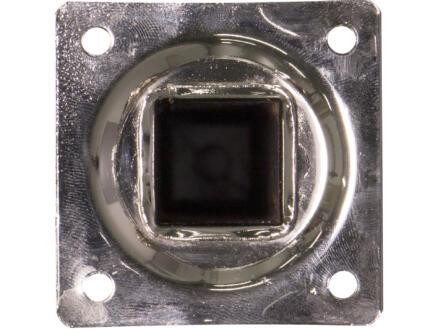 Pied de meuble 25x25 mm 25cm métal aspect inox