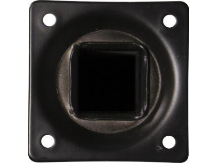 Pied de meuble 25x25 mm 40cm métal noir