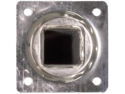 Pied de meuble 25x25 mm 75cm métal aspect inox
