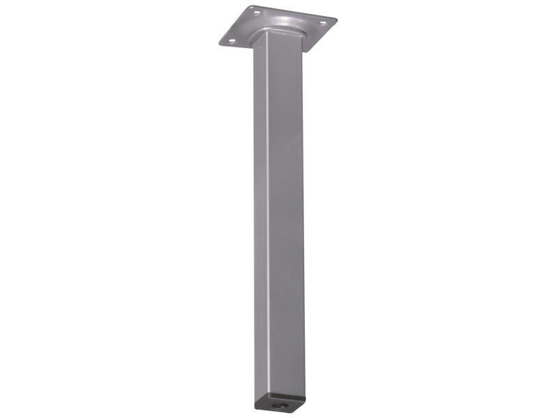 Pied de meuble 25x25mm 25cm aluminium