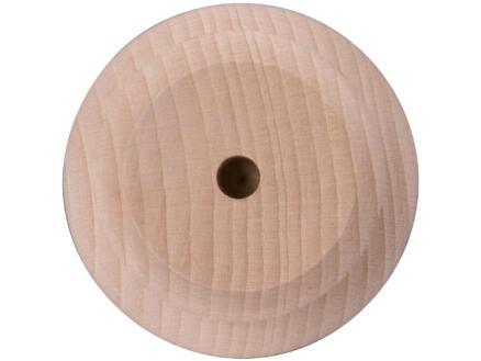 Pied de meuble rond 70mm 80mm hêtre