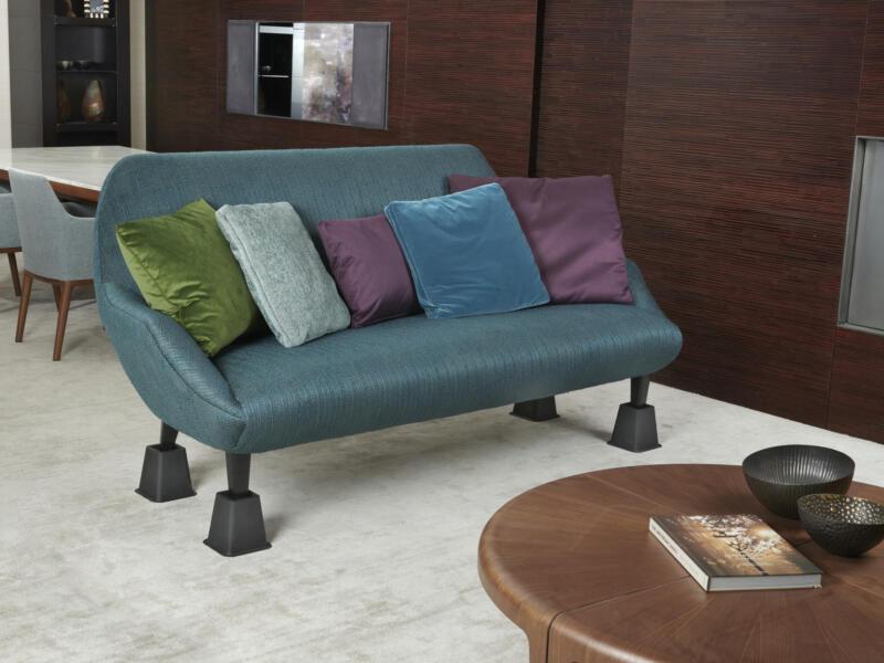 Pied rehausseur pour lits et meubles 13cm noir 4 pièces