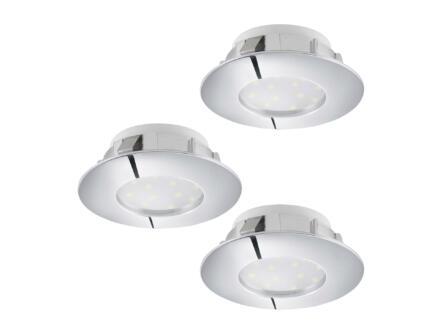 Eglo Pineda LED inbouwspot 6W chroom 3 stuks
