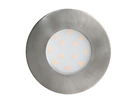 Eglo Pineda LED inbouwspot 6W nikkel