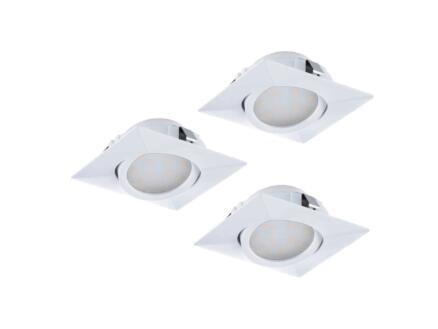 Eglo Pineda LED inbouwspot 6W wit 3 stuks