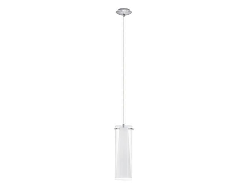 Eglo Pinto hanglamp E27 max. 60W chroom wit