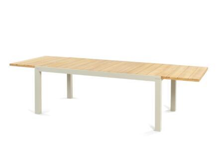 Garden Plus Pisa table de jardin 200x110 cm extensible jusqu'à 300cm brun