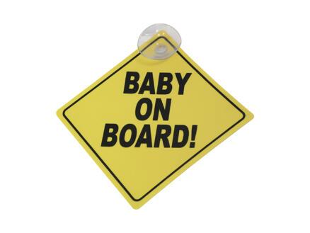 Carpoint Plaatje baby on board 12,5cm