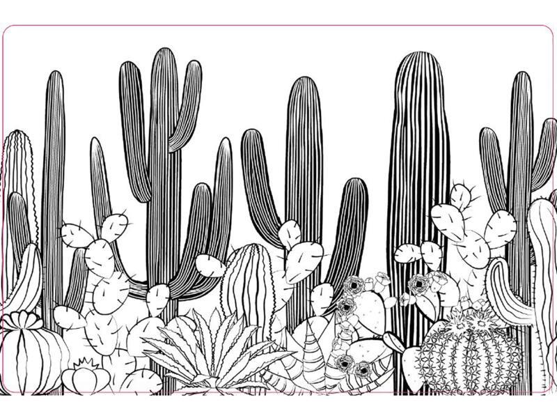 Placemat antislip 45x30 cm cactus forest
