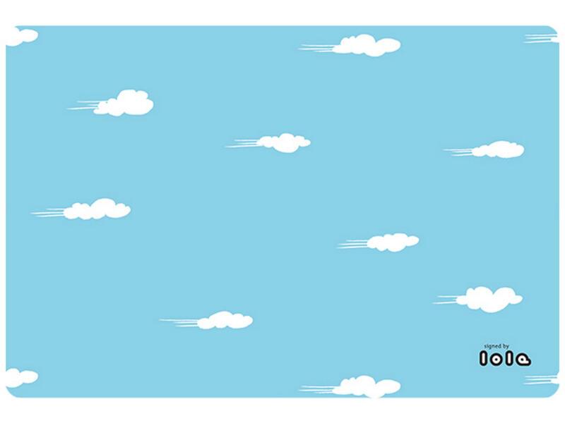 Lola Placemat antislip 45x30 cm daydream sky blue