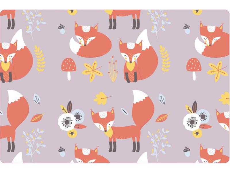 Placemat antislip 45x30 cm red fox