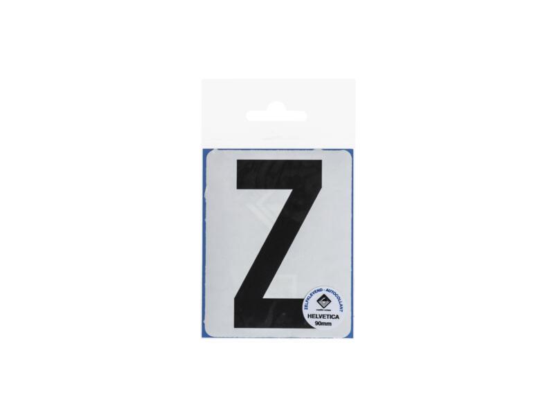 Plakletter Z 90mm zwart mat
