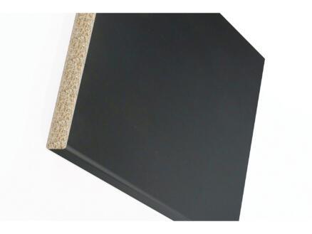 Plan de travail W303 250x60x3 cm noir