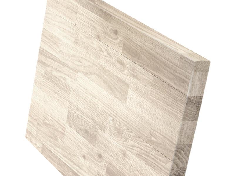 Plan de travail chêne massif 185x60x3,8 cm