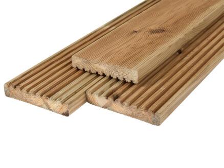 Planche de terrasse 180x14,5x2,8 cm antidérapante pin