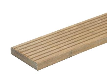 Planche de terrasse 240x14,5x2,1 cm bois dur