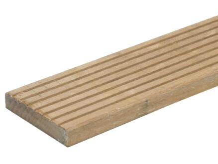 Planche de terrasse 240x14,5x2,8 cm bois dur