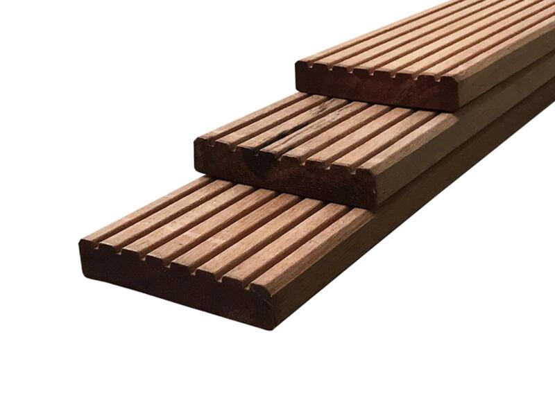 Planche de terrasse 300x14,5x2,5 cm bois dur