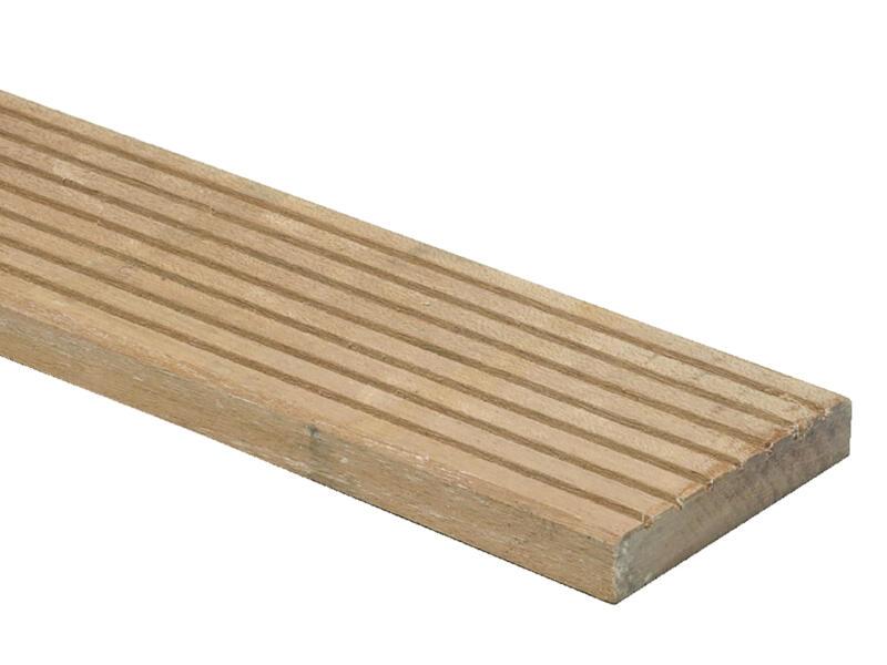 Planche de terrasse 300x14,5x2,8 cm bois dur