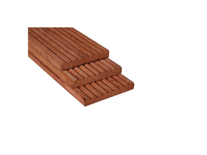 Planche de terrasse 330x14,5x2,1 cm bois dur