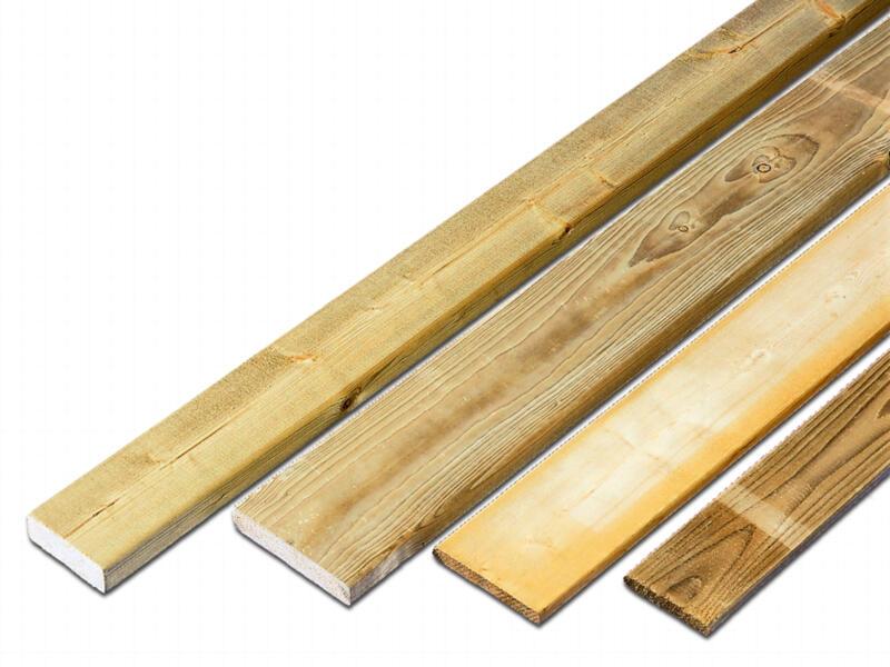 Plank 300x14x1,5 cm geschaafd hout