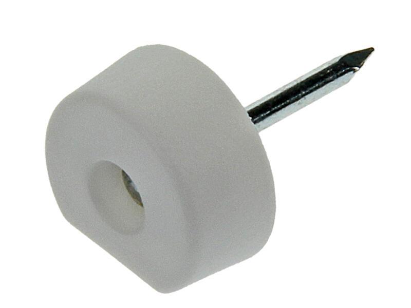 Plankdrager met nagel 10mm wit 20 stuks