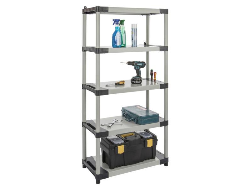 Practo Home Plastirack étagère 171x80x40 cm PVC gris