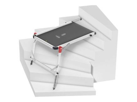Plateforme de travail pour escalier 120x75x80 cm