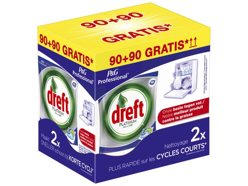 Dreft Platinum all-in-one vaatwastabletten 90+90 tabs
