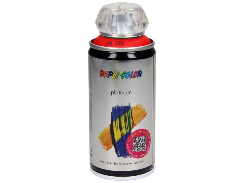 Dupli Color Platinum laque en spray brillant 0,15l rouge signalisation