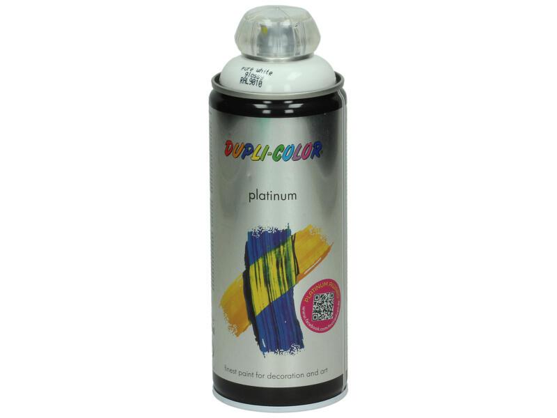 Dupli Color Platinum laque en spray brillant 0,4l blanc pur