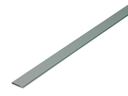 Arcansas Platprofiel 1m 15mm 2mm geanodiseerd aluminium blinkend