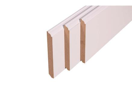 Plint 120x14 mm 240cm 1/4 rond wit