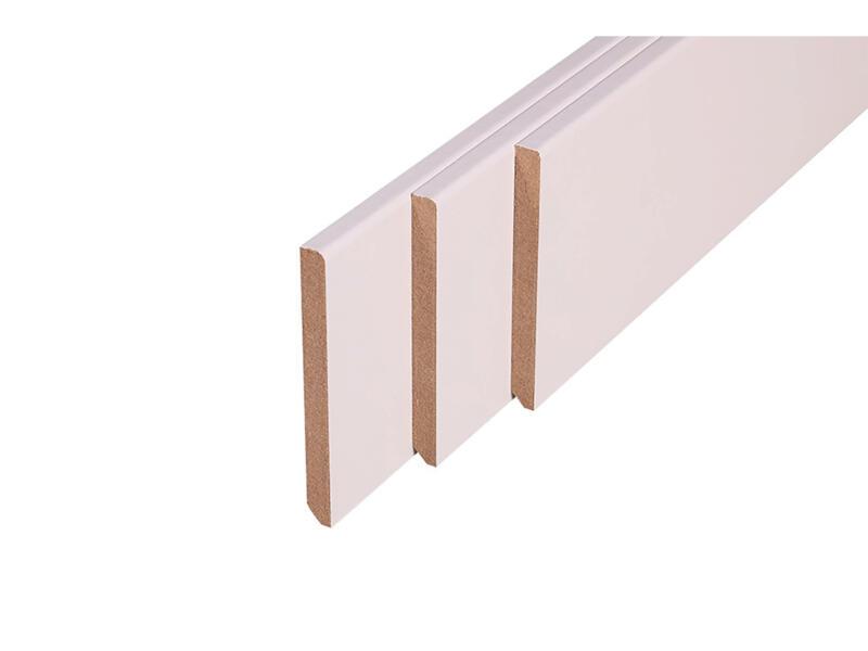 Plint 120x14 mm 240cm recht wit