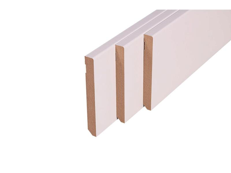Plint 120x14 mm 240cm rond wit