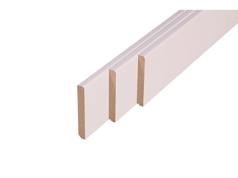 Plint 70x10 mm 220 cm wit