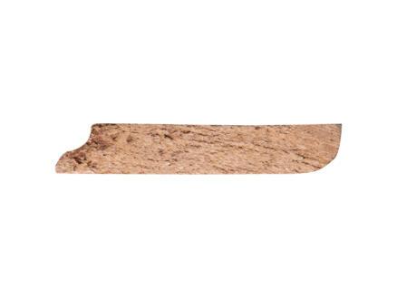 Plinthe 68x12 mm 240cm bois dur massif