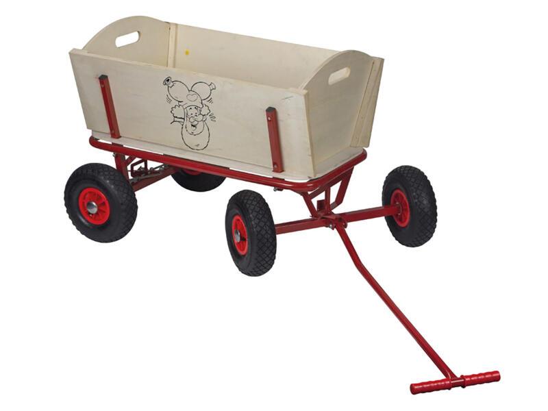 Studio 100 Plop chariot de plage 92x90x62 cm bois