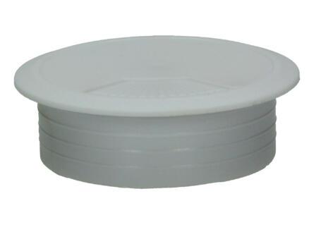 Plot pour passe-câbles 60mm blanc