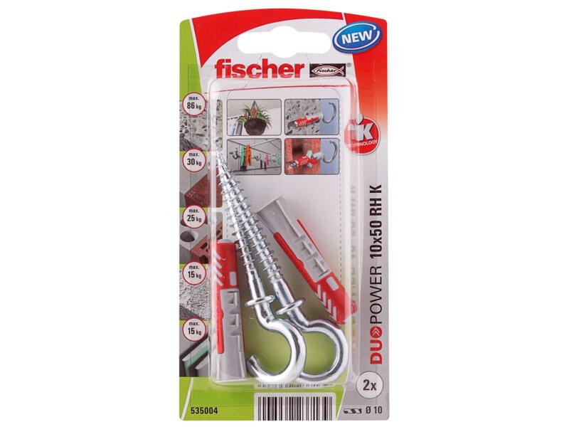 Fischer Plug met schroef met ronde haak 10x50 mm 2 stuks