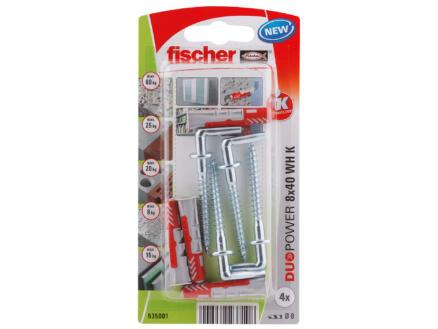 Fischer Plug met schroef met winkelhaak 8x40 mm 4 stuks