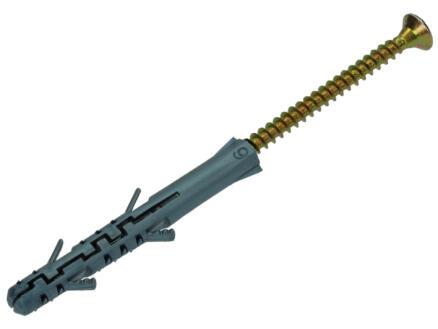 Sam Pluggen lange expansie PE 6x55 mm en schroef 4x70 mm 12 stuks